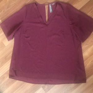 Gorgeous plum coloured top